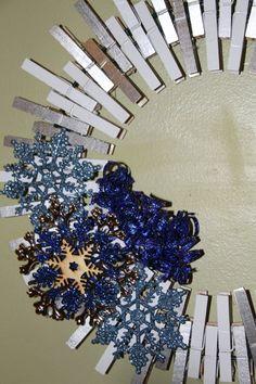 Snowflake Wreath Winter Wreath Christmas by GlitterGlassAndSass