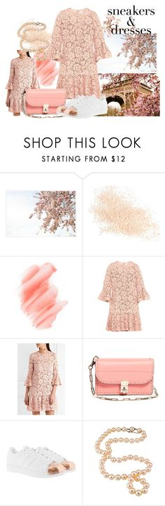"""from paris with love"" by ursiiika ❤ liked on Polyvore featuring Pottery Barn, Eve Lom, Birchrose + Co., Valentino, adidas Originals, Flowers, lace, adidas and valentino"