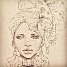 Fabulous Drawing On Creativity Ideas. Captivating Drawing On Creativity Ideas. African, African Drawings, African Tattoo, Art Drawings, Art Tattoo, Meaningful Tattoos, Female Art, Black Girl Art, African Art