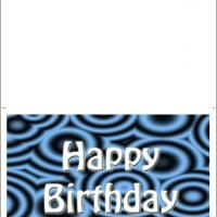 Retro Blue Great Birthday Card