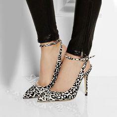 Shoespie Leopard Print Backless Stiletto Heels #stilettoheelsbrianatwood
