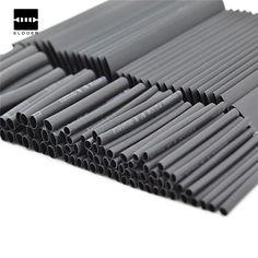 Nueva Llegada 127 UNIDS 7.28 m Negro 2:1 Surtido de tubería de Encogimiento de Calor Tube Manguitos Wire Wrap Cable Kit de Coche Al Por Mayor precio