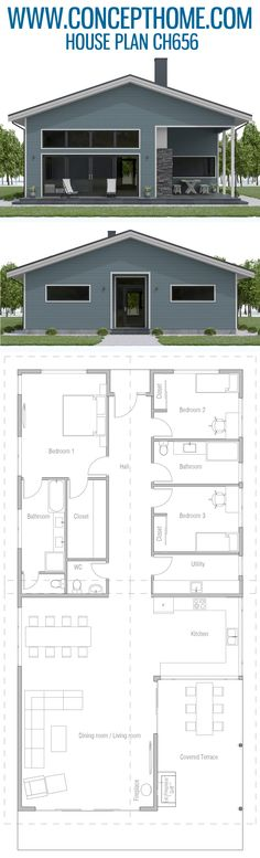 Home Plan, House Plan, House Designs Little House Plans, Best House Plans, Dream House Plans, Modern House Plans, Small House Plans, Modern House Design, House Floor Plans, House Layout Plans, Craftsman House Plans