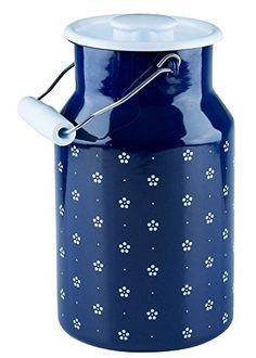 "RIESS KELOmat ""Dirndl"" Emaille-Milchkanne mit Deckel 2,0 Liter - Blümchenblau RIESS KELOMAT http://www.amazon.de/dp/B00WUL7MGM/ref=cm_sw_r_pi_dp_Z6Uqwb1G3NGME"