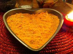 Porkkanalaatikko sydän vuoassa