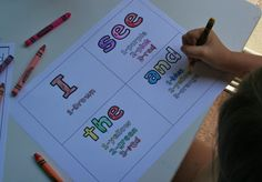 sight words, lots of great ideas for teaching to read