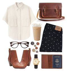 """""""Untitled"""" by hanaglatison ❤ liked on Polyvore featuring Acne Studios, Abercrombie & Fitch, Zatchels, TOMS and American Apparel"""