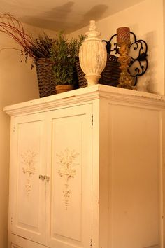 above armoire decor