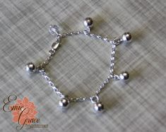 Sterling Silver Bells Anklet Infant Jewelry by EmieGraceDesigns