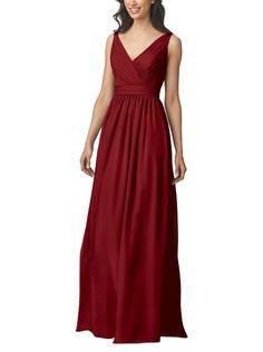 DescriptionWtoo by WattersStyle 905Fulllength bridesmaid dressV-necknecklineFull, a-line skirtDeep v back detailChiffon