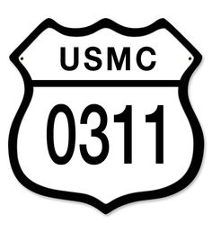 From the Altogether American licensed collection, this USMC 0311 Sign measures 12 inches by 12 inches and weighs in at 2 lb(s). This custom metal shape is hand made in the USA using heavy gauge Americ
