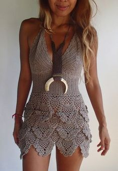 SEXY crochet dress. 11 Colors by PadMa88 on Etsy