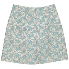 Sky Blue & Ice Grey Floral Brocade Skirt ❤ liked on Polyvore featuring skirts, bottoms, saias, faldas, grey skirt, flower print skirt, gray skirt, floral print skirt and floral printed skirt