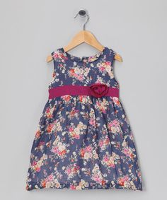 Take a look at the Blue & Pink Floral Dress - Infant, Toddler & Girls on #zulily today!