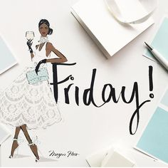Gorgeous illustration by Happy Friday - weekend starts here Black Girl Art, Black Women Art, Art Girl, Black Art, Tgif, Hello Friday, Happy Friday, Friday Weekend, Hello Weekend