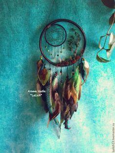 """Купить Ловец Снов """"Сказка о лесе"""" - тёмно-зелёный, красивый ловец снов, красивое украшение"""