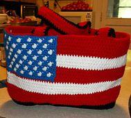 Patriotic Tote pattern by Heidi Yates