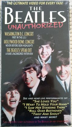 THE BEATLES UNAUTHORIZED, VHS,1996 ULTIMATE VIDEO FOR EVERY FAN NEW