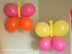 Such cute balloons at a Butterfly Birthday Party!  See more party ideas at CatchMyParty.com!  #partyideas #butterfly