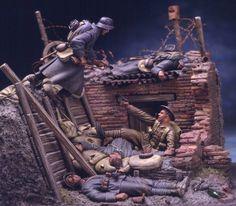 WW 1 diorama  9-26-2014
