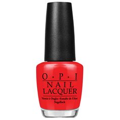 The Pros Have Spoken: 8 Red Nail Polish Bottles Actually Worth Buying - OPI Nail Lacquer in Big Apple Red from InStyle.com
