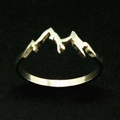 Silver Mountain Range Ring – Mountain Jewelry Jewellery, Ring Size UK United Kingdom and Australia B Sterling Silver Mountain Range Ring Hope Ring Dream by yhtanaff Cute Jewelry, Jewelry Box, Silver Jewelry, Jewelry Accessories, Jewlery, Silver Earrings, Gold Jewellery, Jewelry Armoire, Jewelry Stores