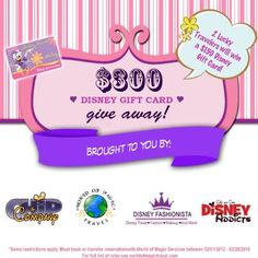 $300 in Disney Gift Cards Giveaway