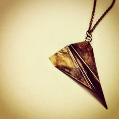Paper Airplane Necklace $45.00