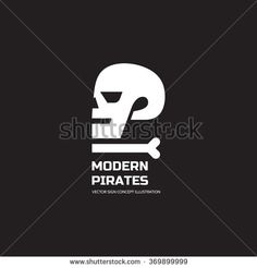 Modern pirates - vector logo concept illustration. Skull vector logo. Death…