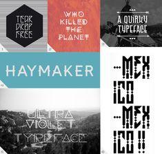 Interesting free(?) fonts.