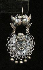 Kissing Bird Silver Earrings | Catnip Reproduction Vintage Clothing
