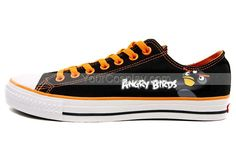 Angry Birds Shoes-Black, Angry Birds Shoes, Cosplay Hand Drawing Shoes Bird Shoes, Painted Canvas Shoes, Angry Birds, Chuck Taylor Sneakers, Chuck Taylors, Black Shoes, How To Draw Hands, Cosplay, Drawing