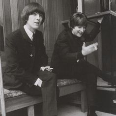 1965 - George Harrison and John Lennon.