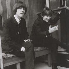 1965 - George Harrison and John Lennon.