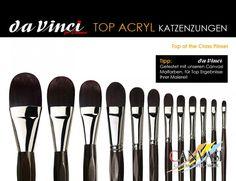 DaVinci - Katzenzungenpinsel - Canvasi Edition Paint Colours, Brushes, Cats, Tips