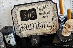 Diy Halloweeen Countdown with free printable