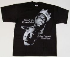 Tupac Shakur Biggie Smalls LEGENDS T-shirt 2PAC Notorious B.I.G. Rap Tee XL-4XL