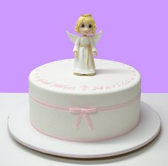 Angel Baptism Cake | by LovelyCakes.net
