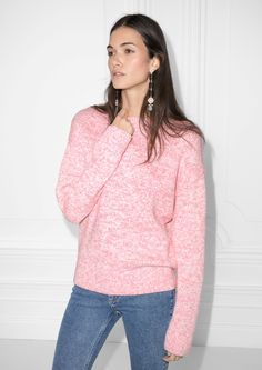 & Other Stories image 1 of Knitted Sweater in Pink
