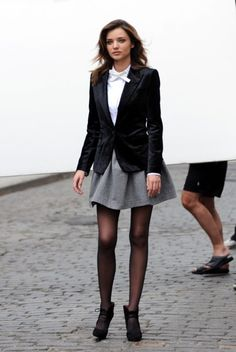 loved the gray skirt... need one