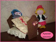 """Кукольный театр ручной работы. Пальчиковый кукольный театр """"Красная шапочка"""". Puppet-show (Puppetshow). Интернет-магазин Ярмарка Мастеров."""