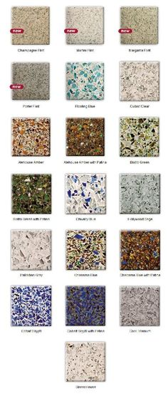 Hmmm, recycled glass countertops. I like the idea.
