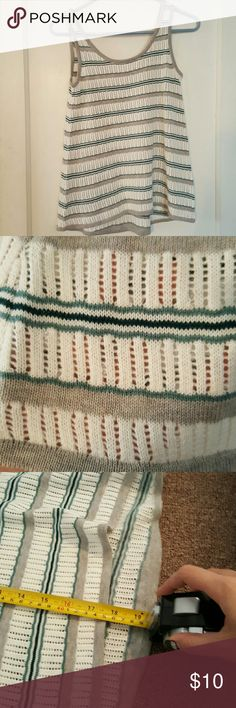 Cute Knitted Top Brand new, never worn. Feel free to make an offer. Third picture is a measurement from neck line to bottom. Slightly longer in the back. Made in China. Pink Republic Tops