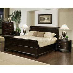 Abbyson Kingston 4 Piece Espresso Sleigh King Size Bedroom Set By Abbyson.  Sleigh BedsCalifornia ...