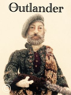 #Outlander #Dougal #Mckenzie #Graham #McTavish #knitteddoll  #hobbit #dwarf #dwalin #denise #designs #celeb