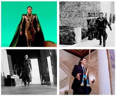 """-gif set of """"the Loki strut."""" This is glorious.-  For some reason, I'm obsessed with the way people walk.  If they walk like a penguin, if they walk like this guy here, it doesn't matter...it's just fun to surreptitiously watch like a creeper."""