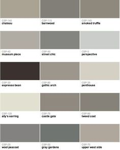 Benjamin Moore - Gray paint colors - perspective for living room Grey Paint Colors, Interior Paint Colors, Paint Colors For Home, Gray Paint, Greige Paint, Neutral Paint, Neutral Tones, Brown Paint, Neutral Palette