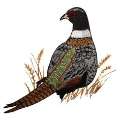 wildlife014 - Pheasant Machine Embroidery Design