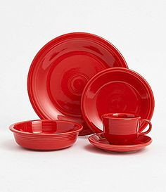 Fiesta Scarlet Dinnerware - Dillard's - Buy 4 - 5pc place settings, get the 5th free $100.00