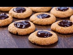 Peanut Butter Chocolate Thumbprint Cookies :: Home Cooking Adventure